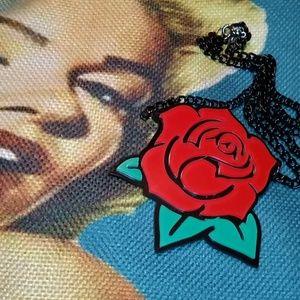 Acrylic Rose necklace